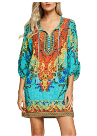 Boho Mexican Style Summer Dress