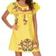 Boho Mexican Peasant Dress
