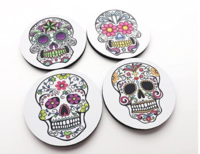 Day of the Dead Coasters Set