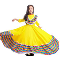 Girls Mexican Style Carnival Festival Dress