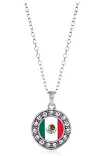 Mexican Flag Pendant