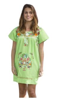 Mexican Peasant Mini Dress