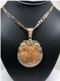 Mexicano Moneda Pendant Chain