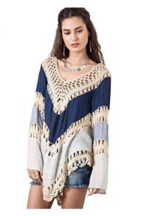 Crochet Tunic Top Blouse