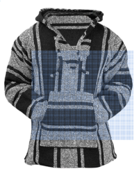 Men's Mexican Poncho Hoodie