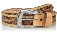 Mexican Floral-Embossed Belt