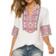 Summer Mexican Boho Blouse